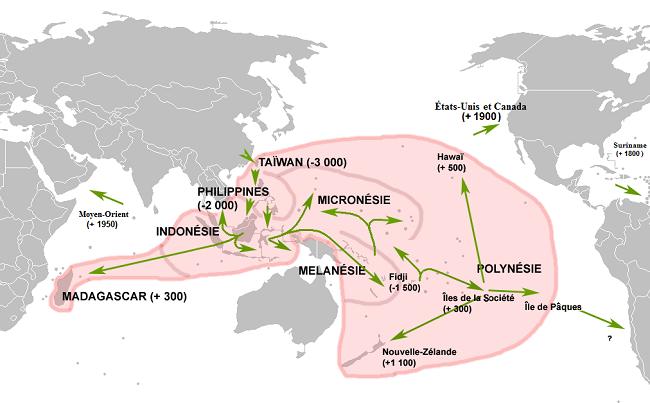 Évolution géographique de la linguistique austronésienne